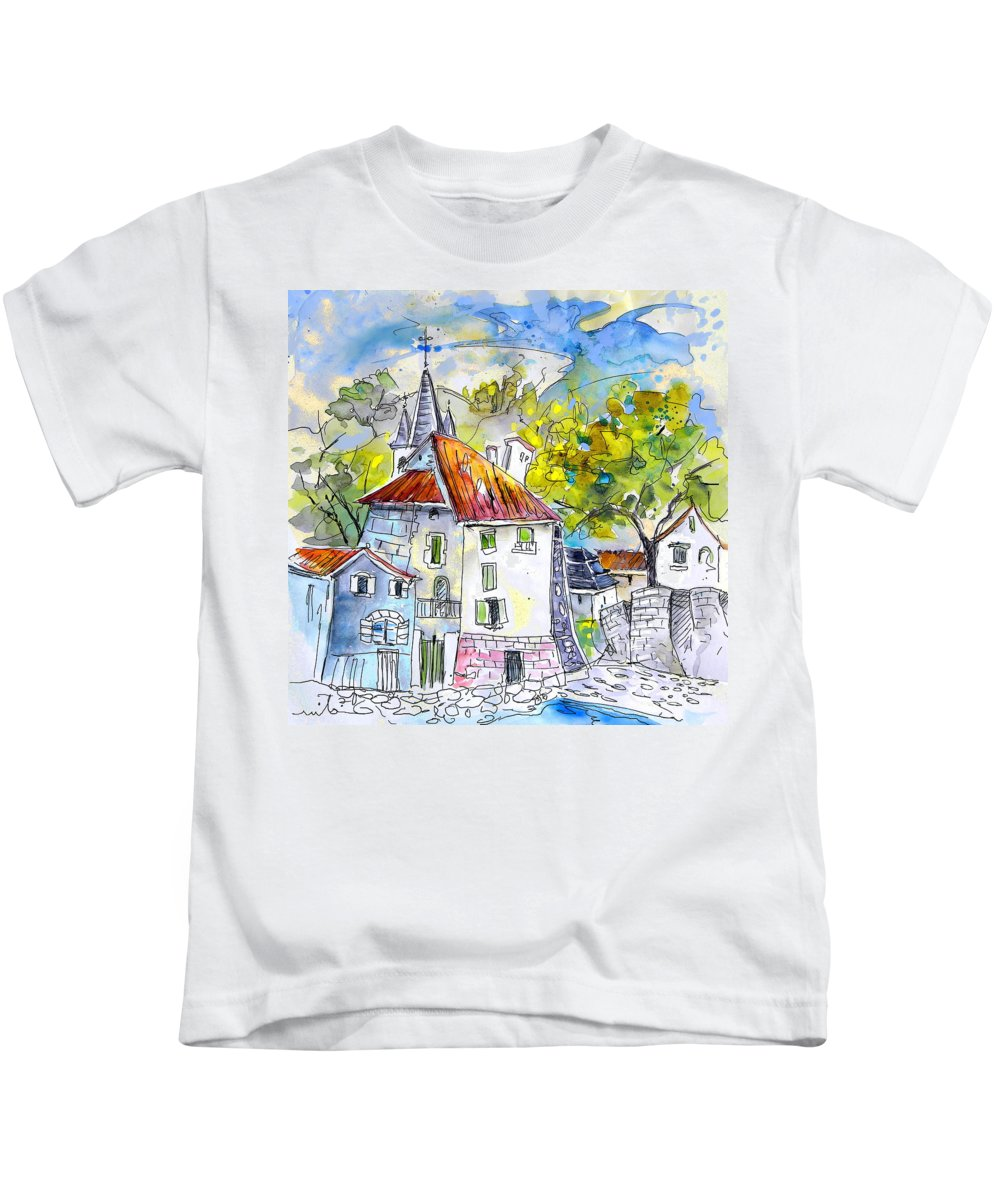 Peyrehorade Kids T-Shirt featuring the painting Peyrehorade 02 by Miki De Goodaboom