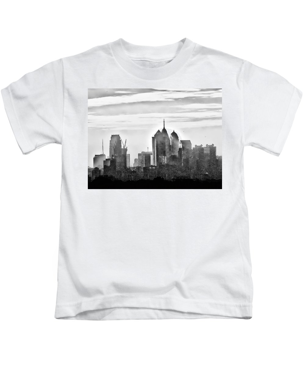 Philadelphia Kids T-Shirt featuring the photograph Philadelphia by Bill Cannon