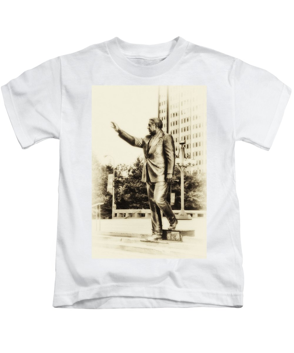 Mayor Kids T-Shirt featuring the photograph Philadelphia Mayor - Frank Rizzo by Bill Cannon