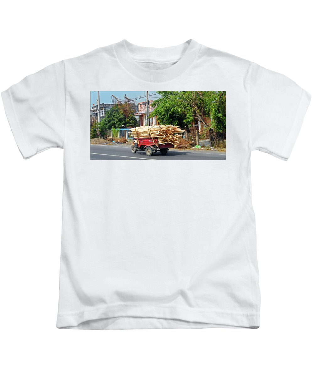 Phu My Kids T-Shirt featuring the photograph Phu My 6 by Ron Kandt
