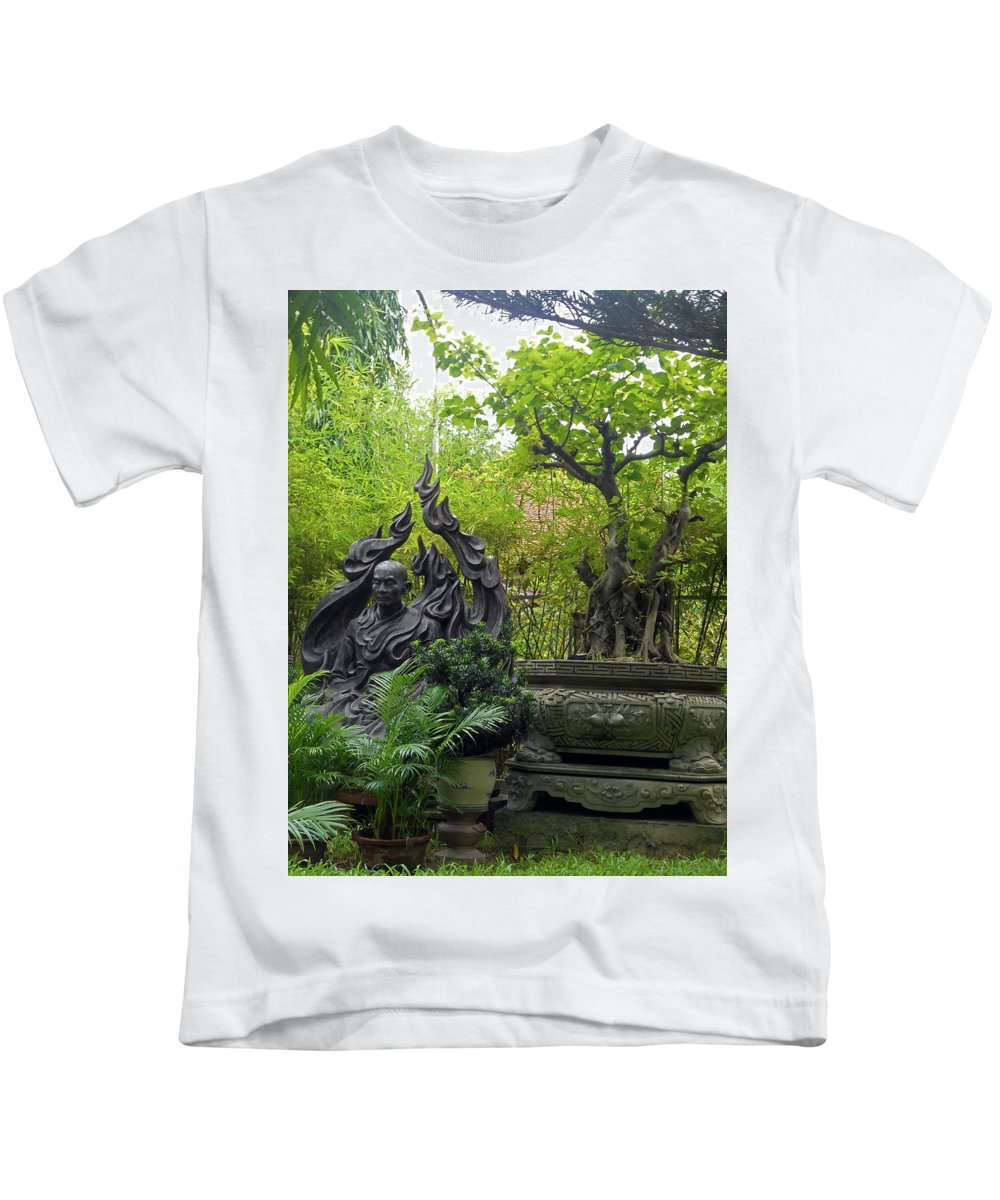 Phu My Kids T-Shirt featuring the photograph Phu My Statues 7 by Ron Kandt