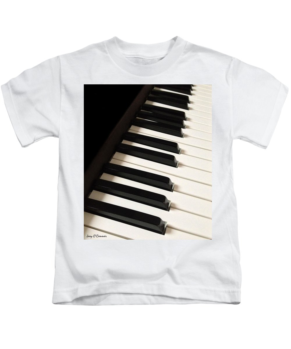 Piano Kids T-Shirt featuring the photograph Piano Keys by Joey OConnor