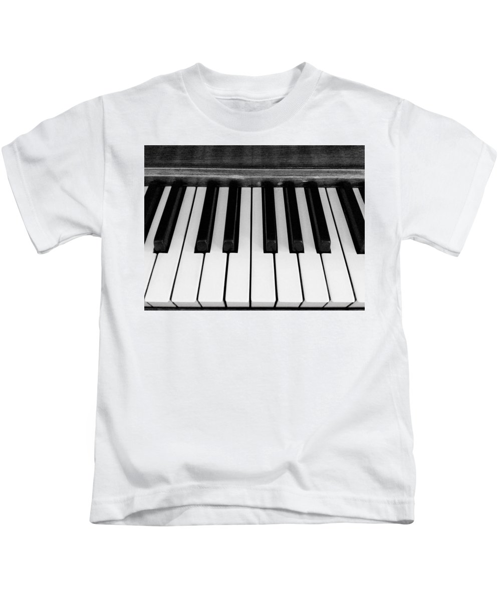 Piano Kids T-Shirt featuring the photograph Piano Keys by Shelly Dixon