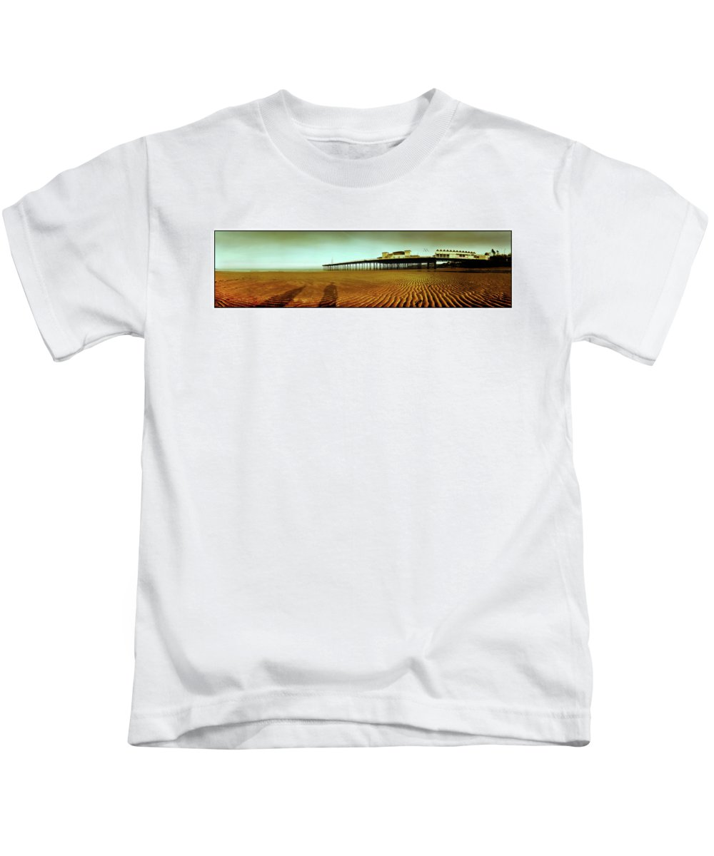 Pier Kids T-Shirt featuring the photograph Pier Open Every Day by Mal Bray