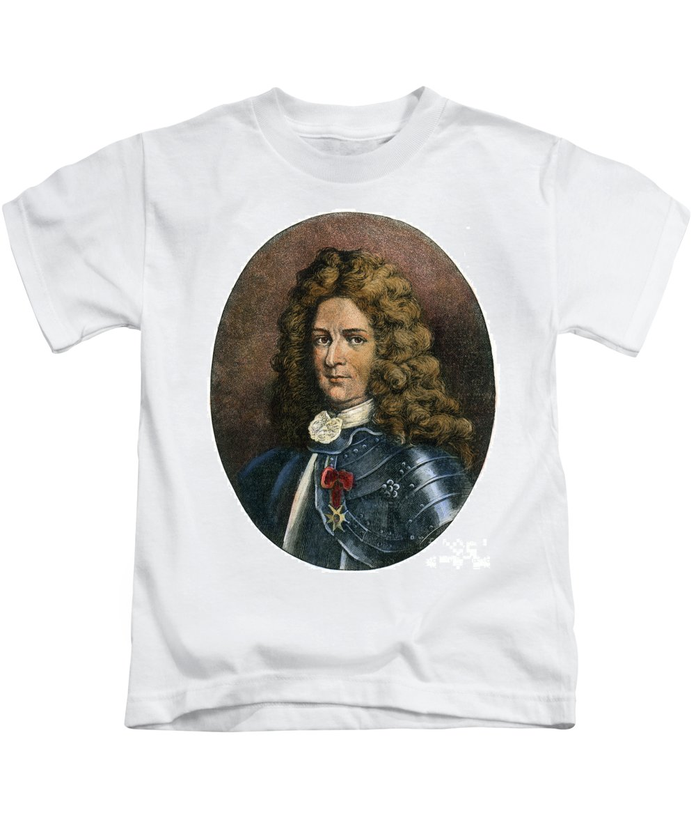 Colonist Kids T-Shirt featuring the drawing Pierre Lemoyne, 1661-1706 by Granger