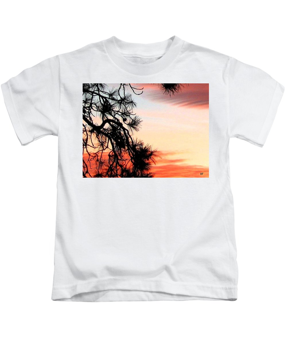 Sunset Kids T-Shirt featuring the photograph Pine Tree Silhouette by Will Borden