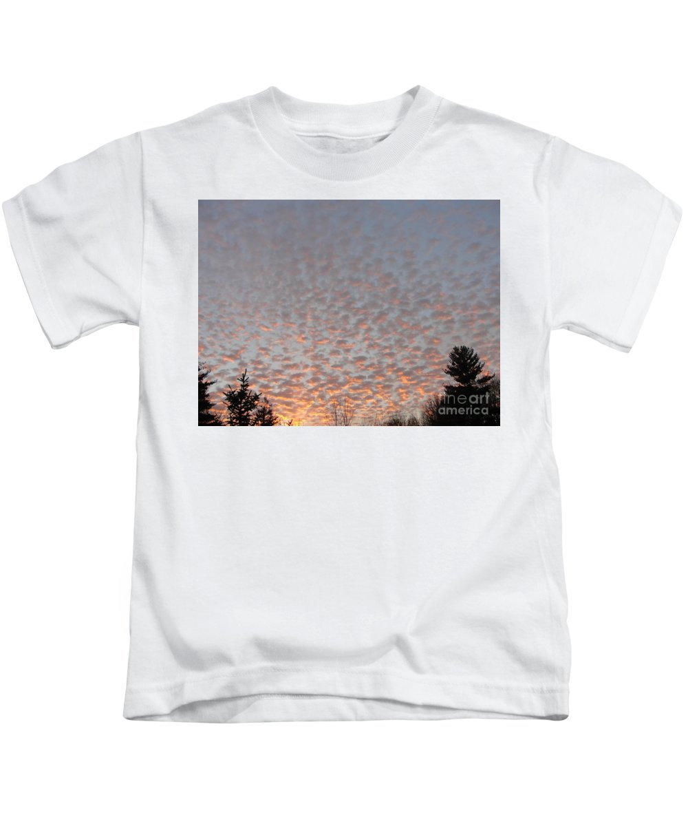 Sky Kids T-Shirt featuring the photograph Pink Dotted Sky by Alice Heart