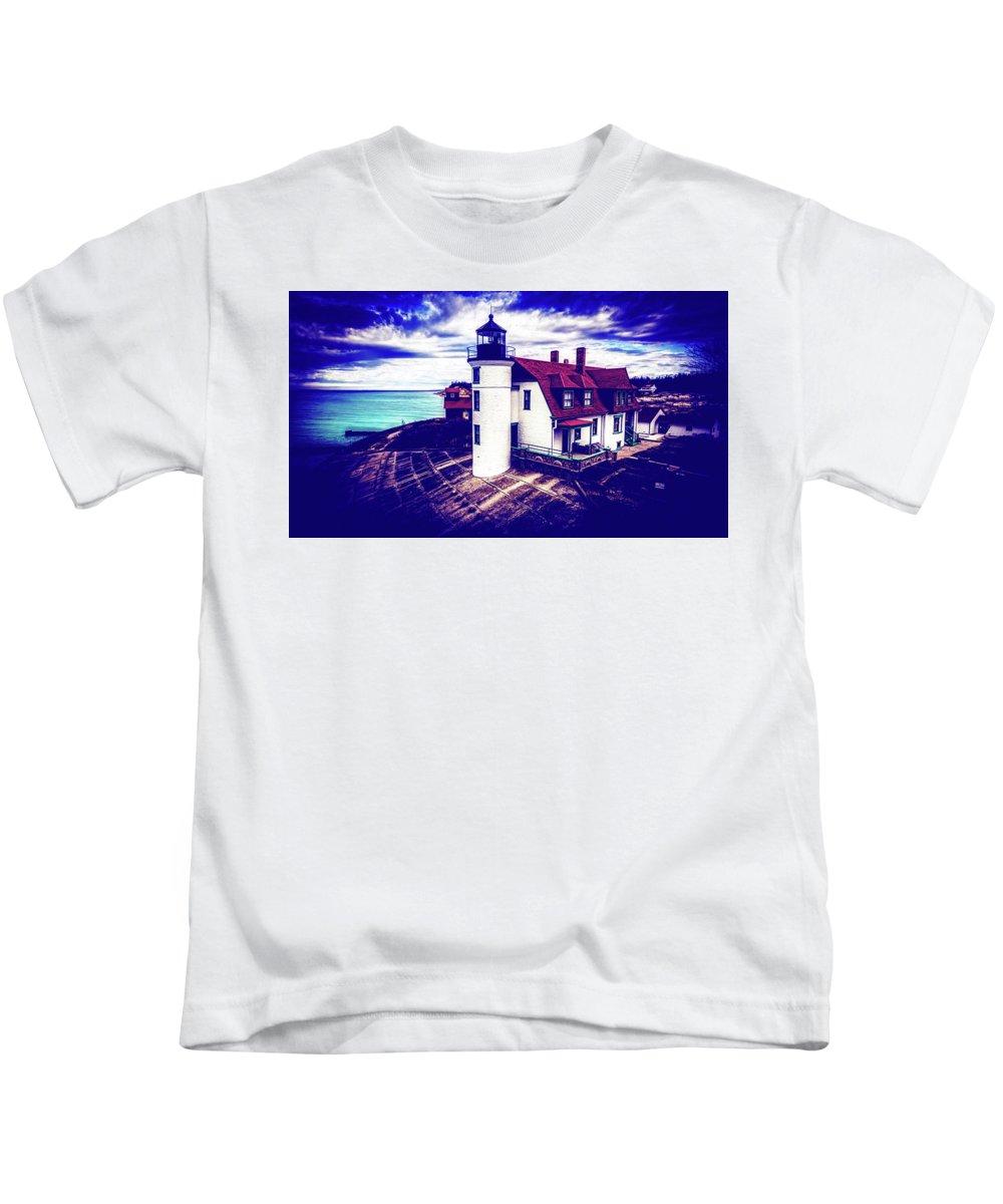 Point Betsie Kids T-Shirt featuring the photograph Point Betsie On Lake Michigan by Unsplash