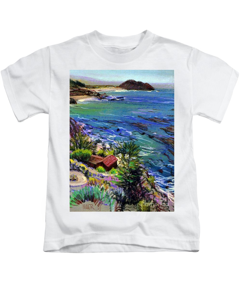 Point Sir Kids T-Shirt featuring the painting Point Sir by Donald Maier