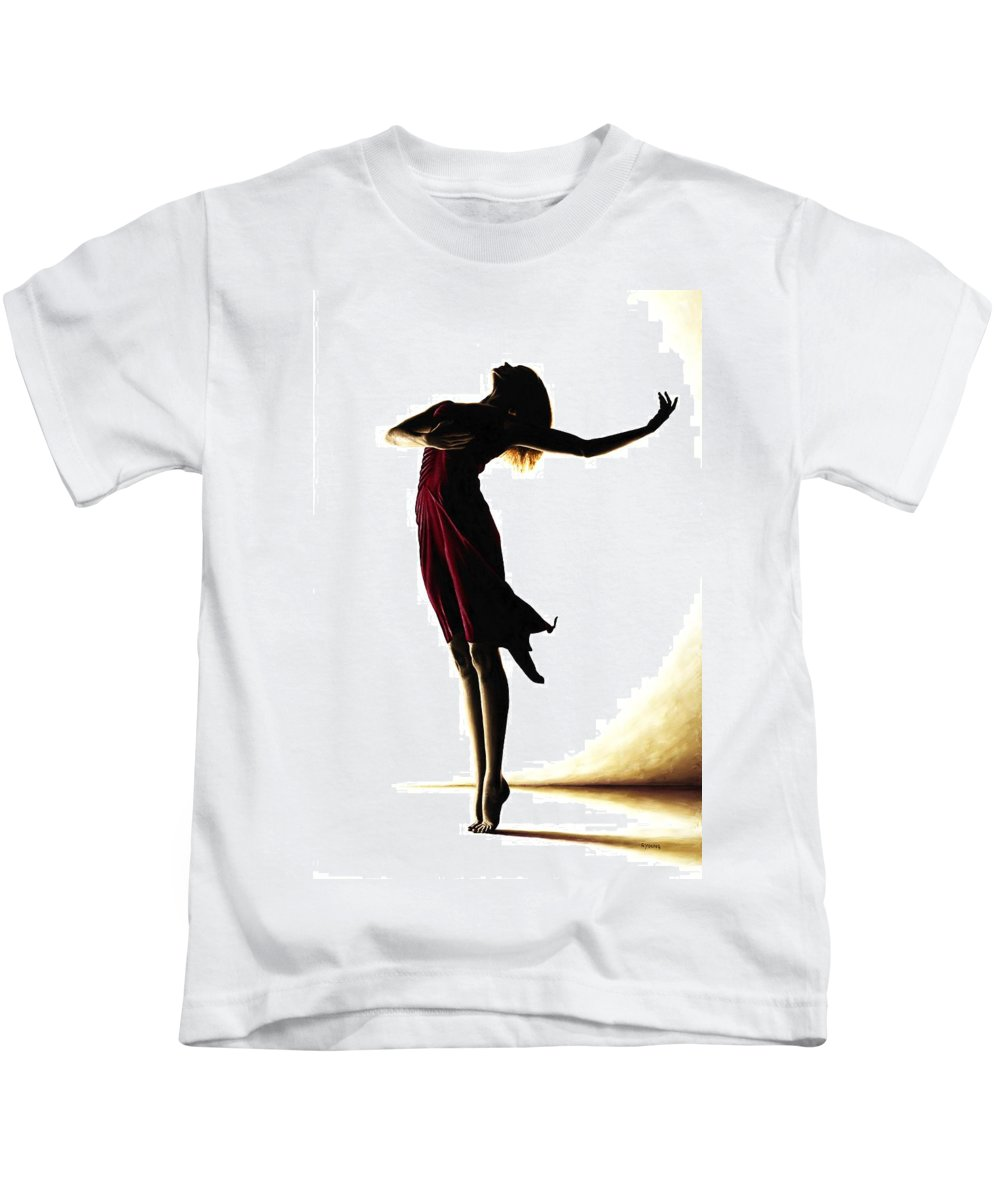 Ballet Kids T-Shirt featuring the painting Poise In Silhouette by Richard Young