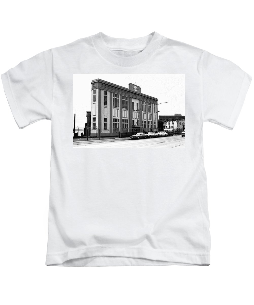 Building Kids T-Shirt featuring the photograph Port Of Seattle by Karen Ulvestad