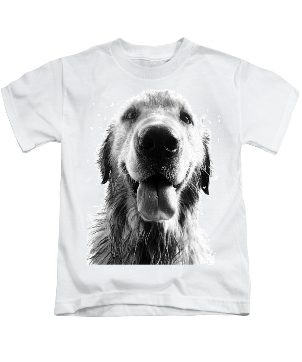 Argentina Kids T-Shirt featuring the photograph Portrait Of A Happy Dog by Osvaldo Hamer