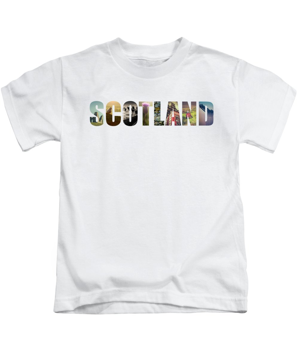 Beautiful Kids T-Shirt featuring the photograph Postcard For Scotland by Mr Doomits