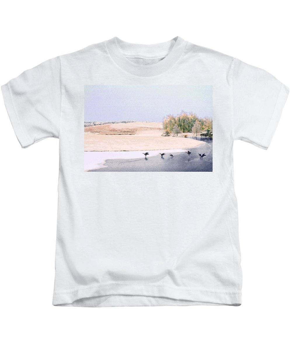 Landscape Kids T-Shirt featuring the photograph Powell Gardens In Winter by Steve Karol