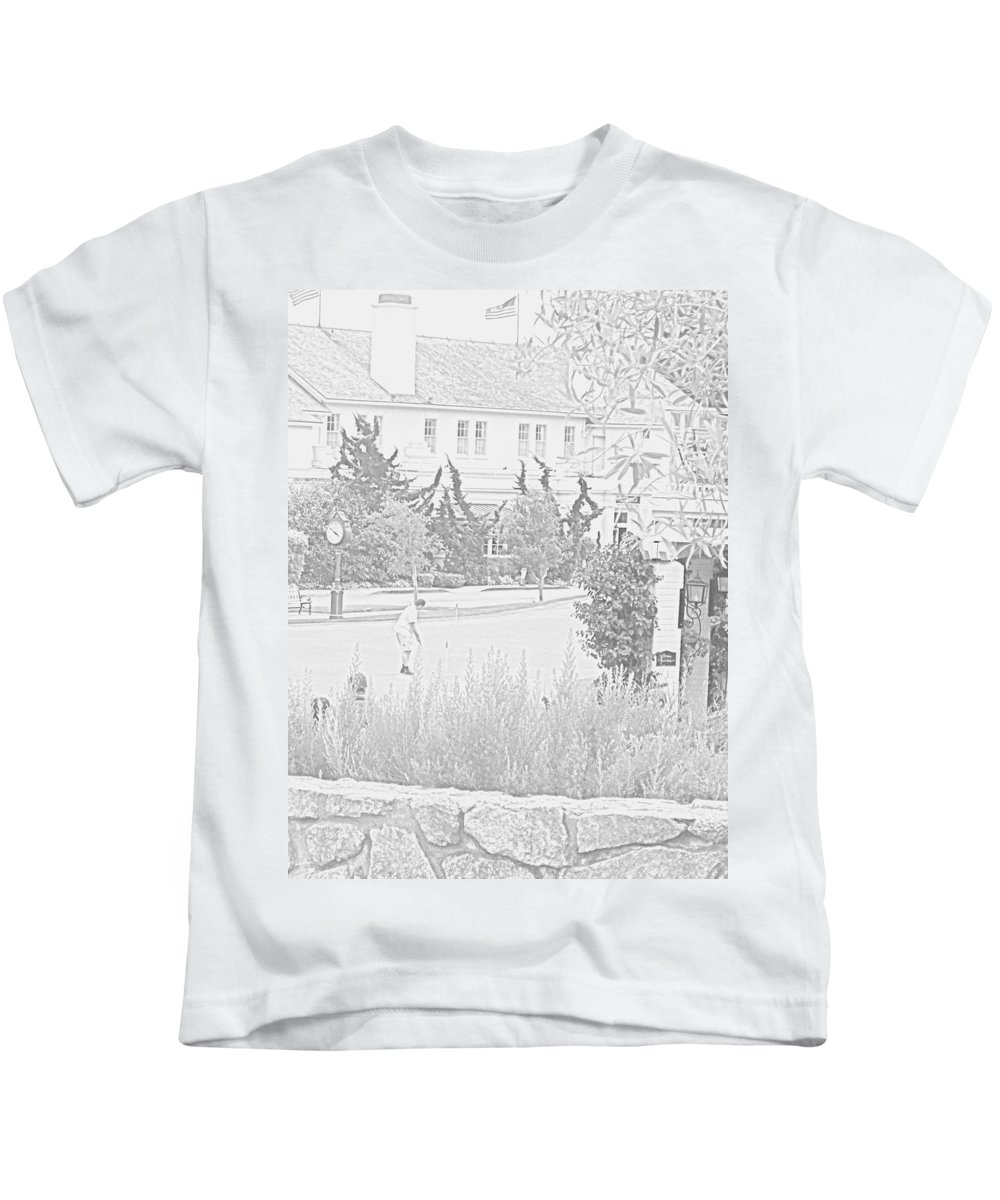 Golf Kids T-Shirt featuring the photograph Practice Round At Pebble Beach by Pharris Art