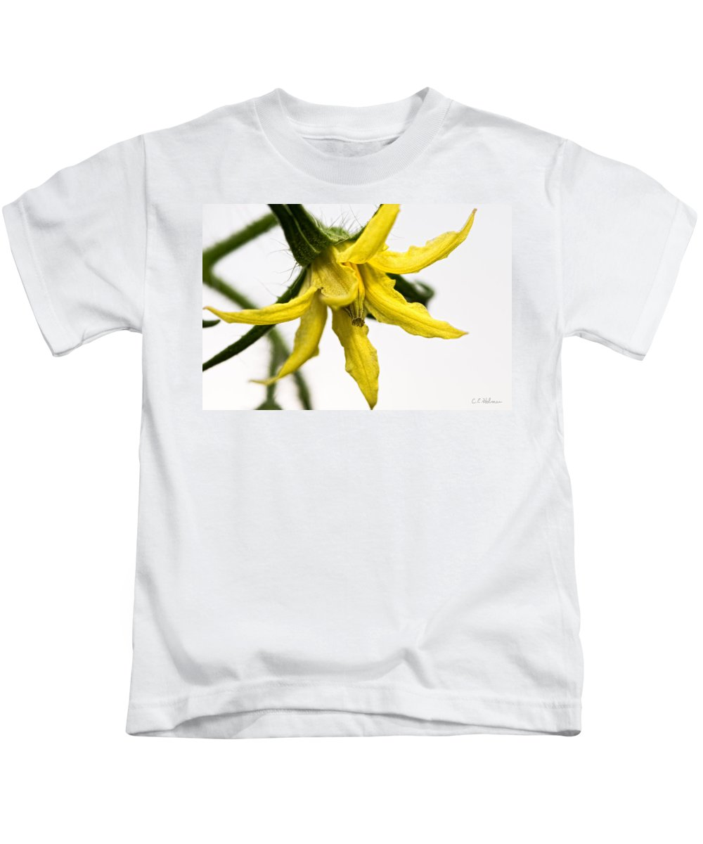 Tomato Kids T-Shirt featuring the photograph Pre-tomato by Christopher Holmes