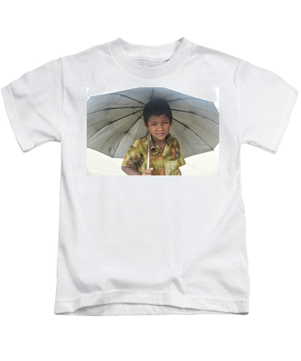 Kids T-Shirt featuring the photograph Prepared For Rain by Andrew Day Photography