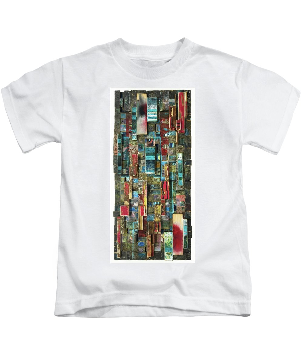 Street Art Kids T-Shirt featuring the painting Pretty Like Drugs by Bobby Zeik