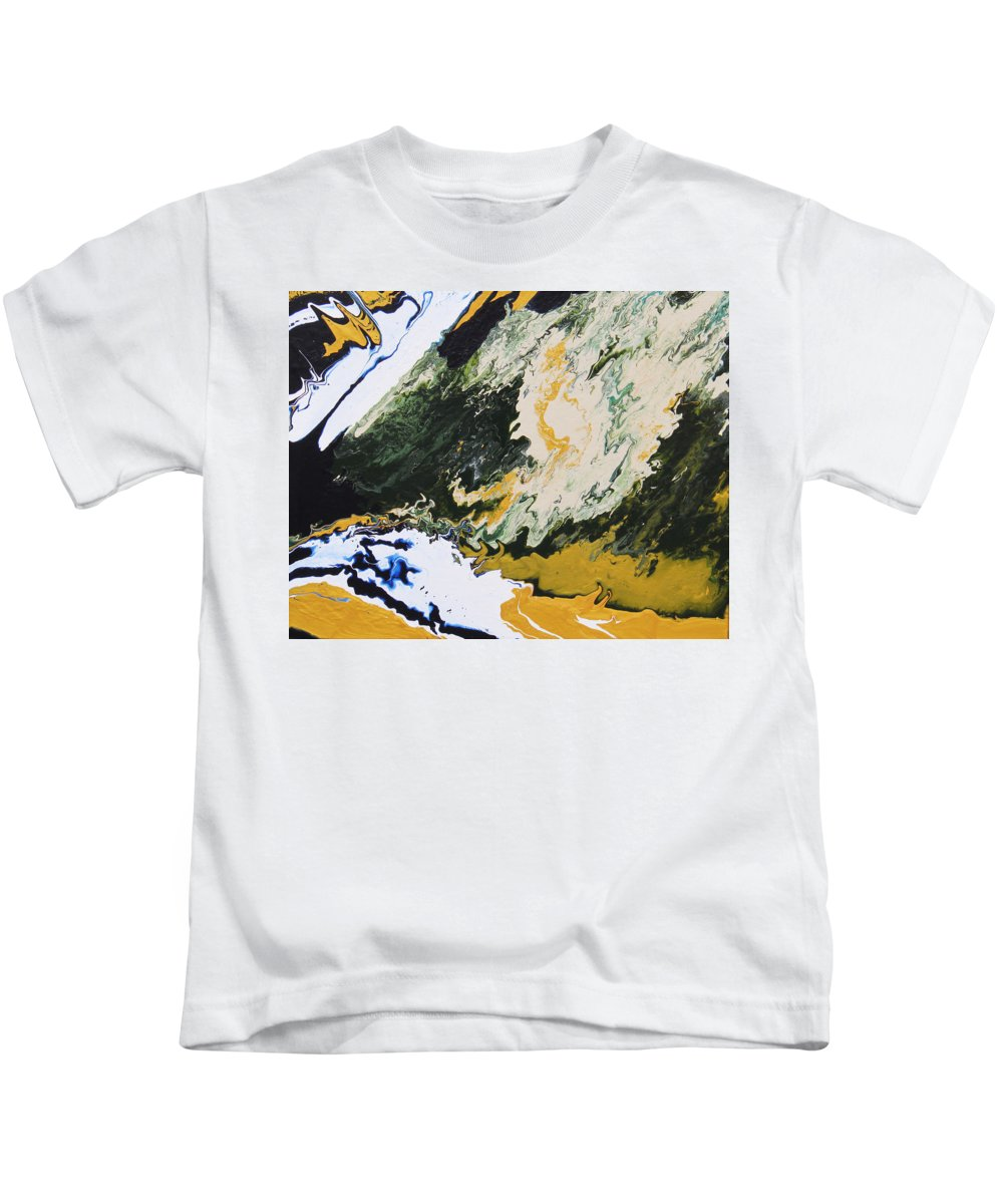 Fusionart Kids T-Shirt featuring the painting Primeval by Ralph White