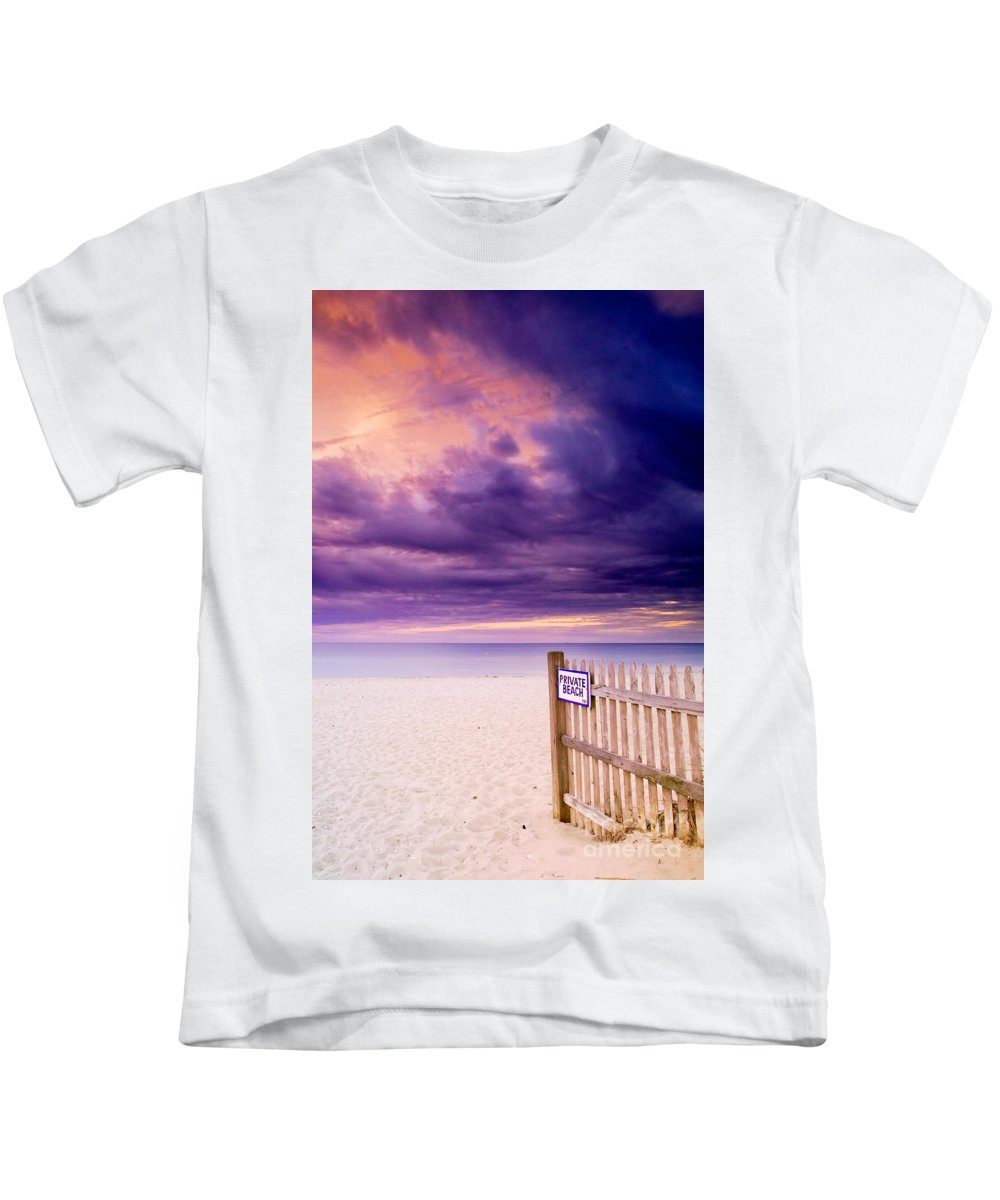 Centerville Kids T-Shirt featuring the photograph Private Beach Cape Cod by Matt Suess