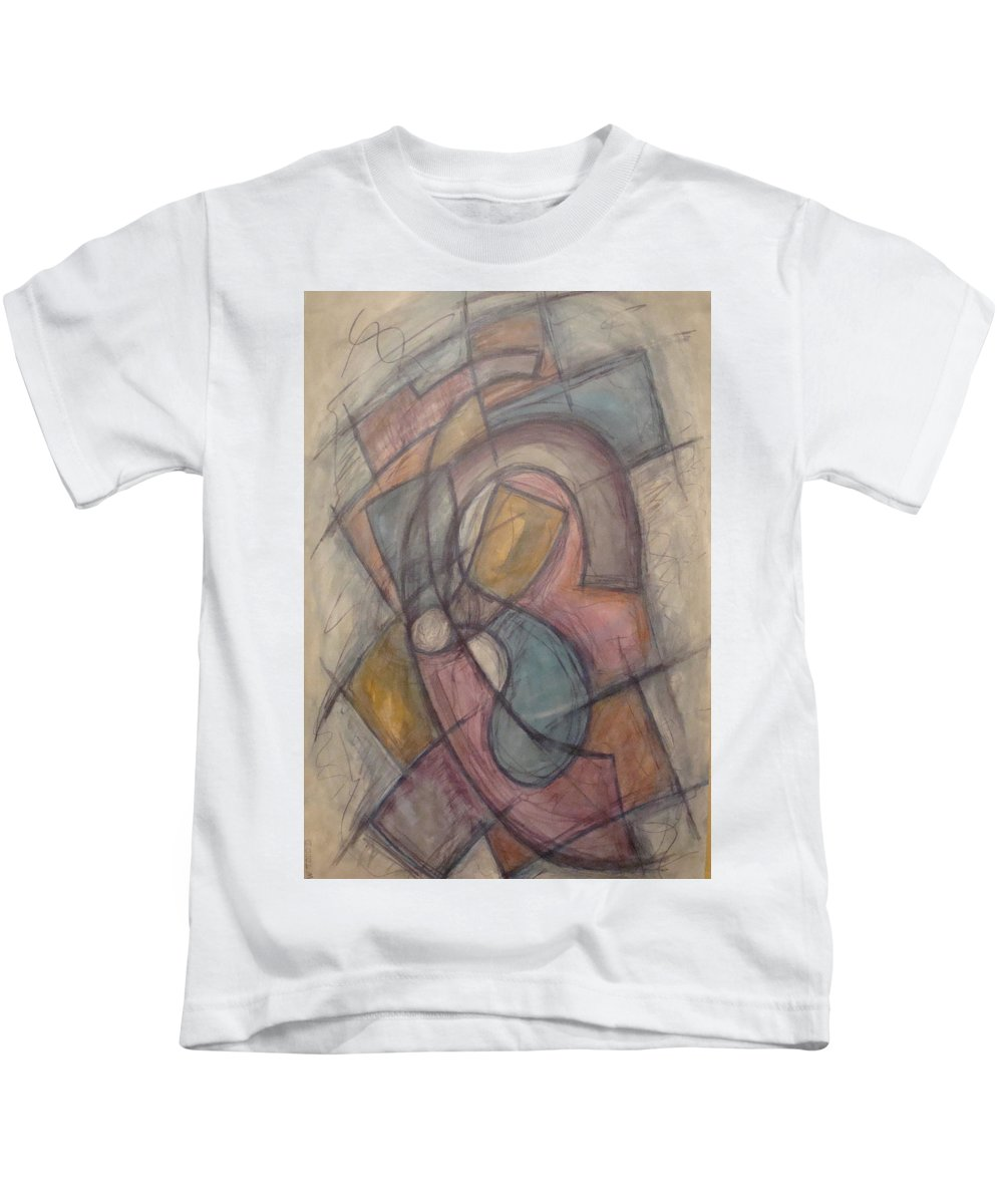 Pure Abstract Kids T-Shirt featuring the painting Propeller by W Todd Durrance