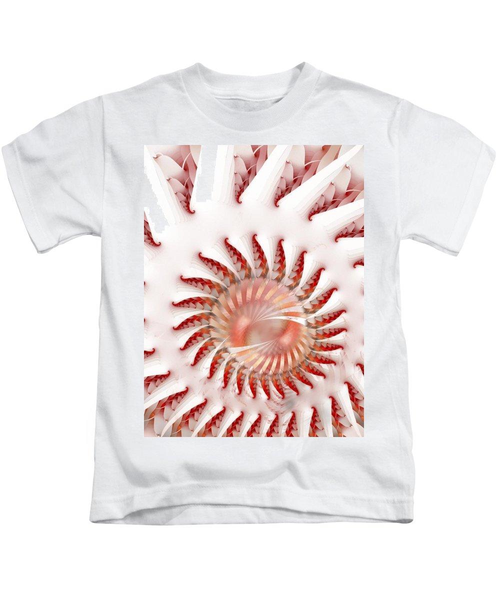 Fractal Art Kids T-Shirt featuring the digital art Protea Magnifica by Amorina Ashton