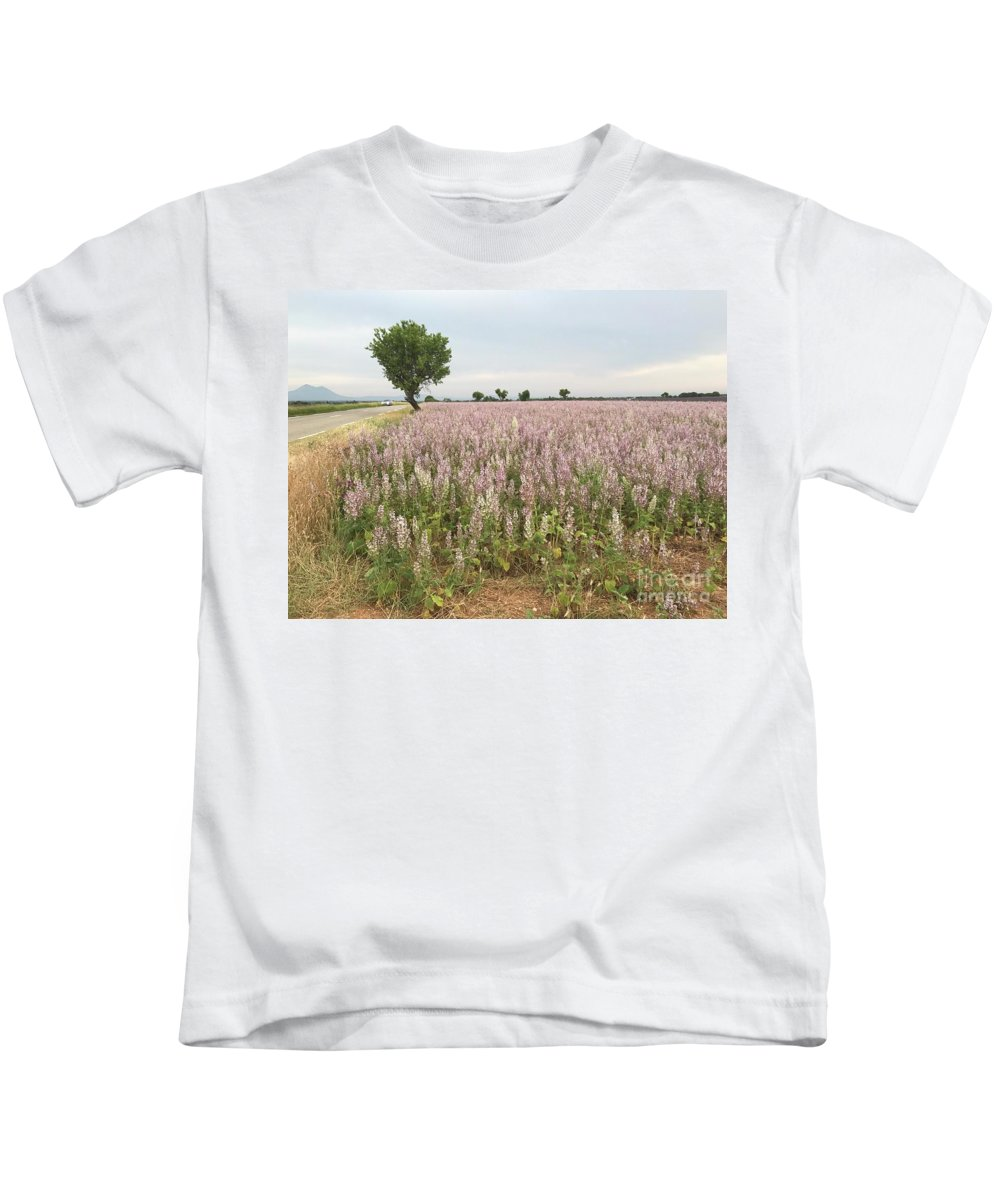 Lavendar Kids T-Shirt featuring the photograph Provence Lavendar Dreams by Nadine Rippelmeyer