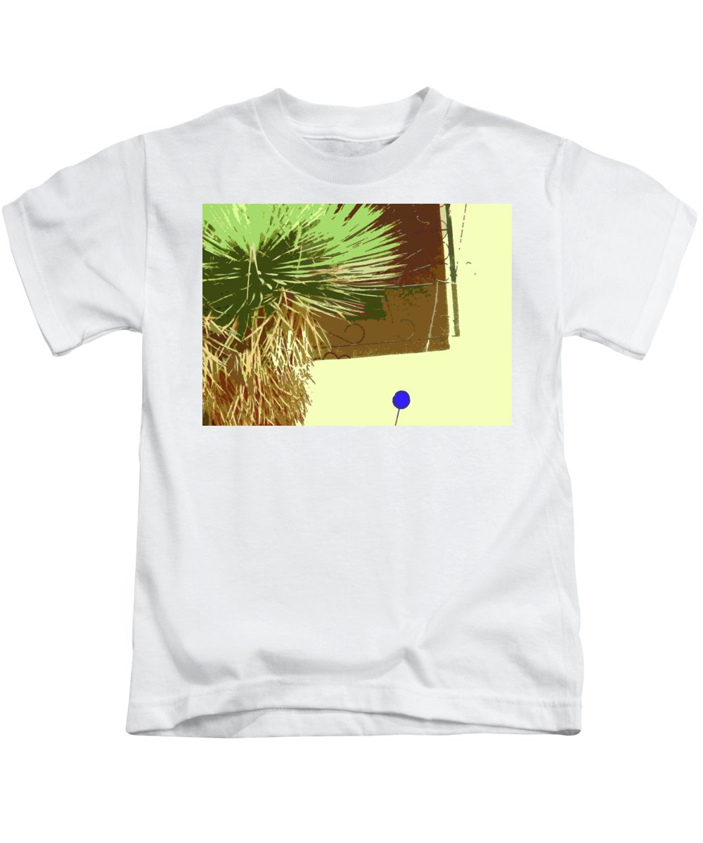 Abstract Kids T-Shirt featuring the digital art Pueblo Hacienda Design by Lenore Senior