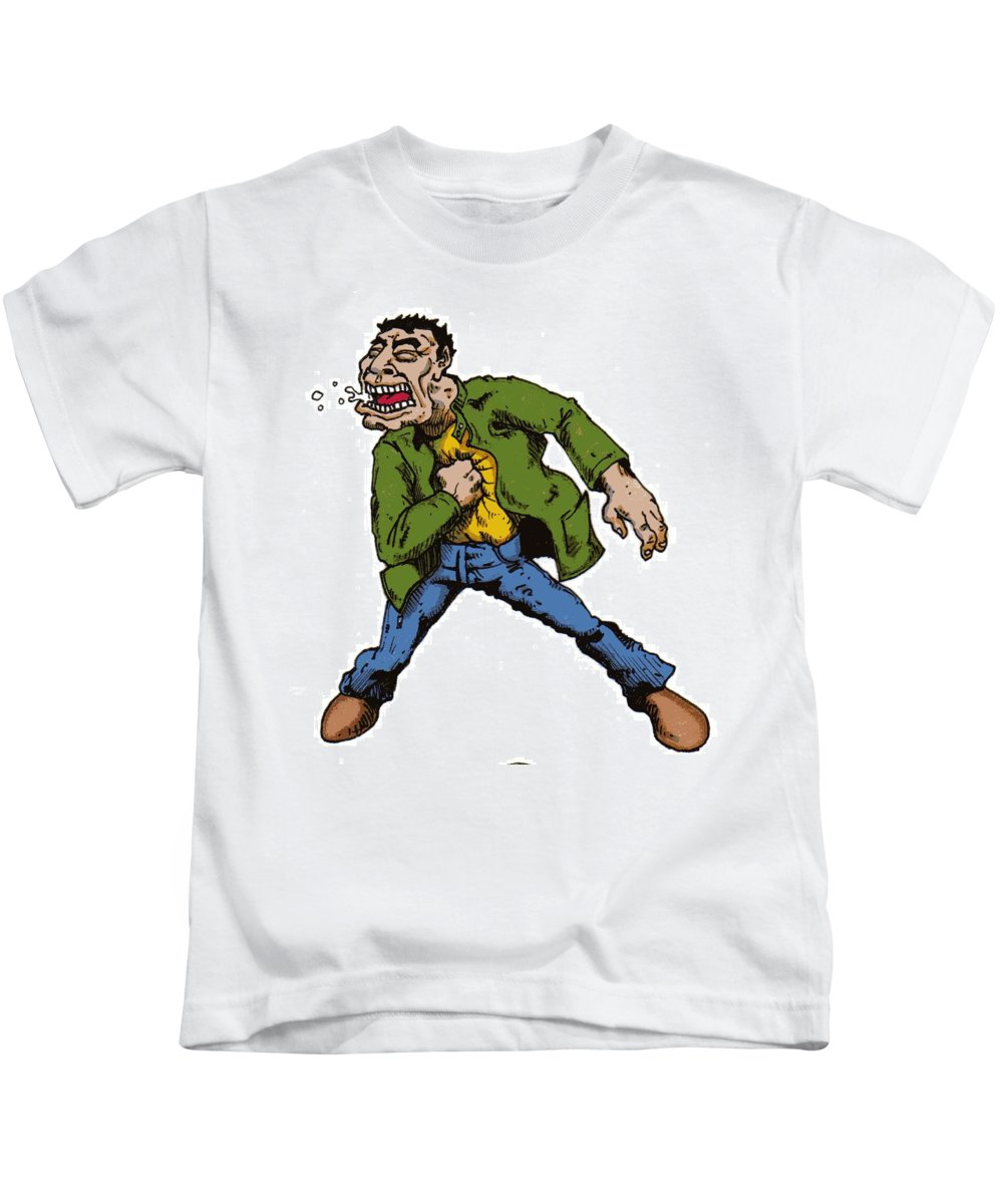 Illustration Kids T-Shirt featuring the drawing Punch by Tobey Anderson
