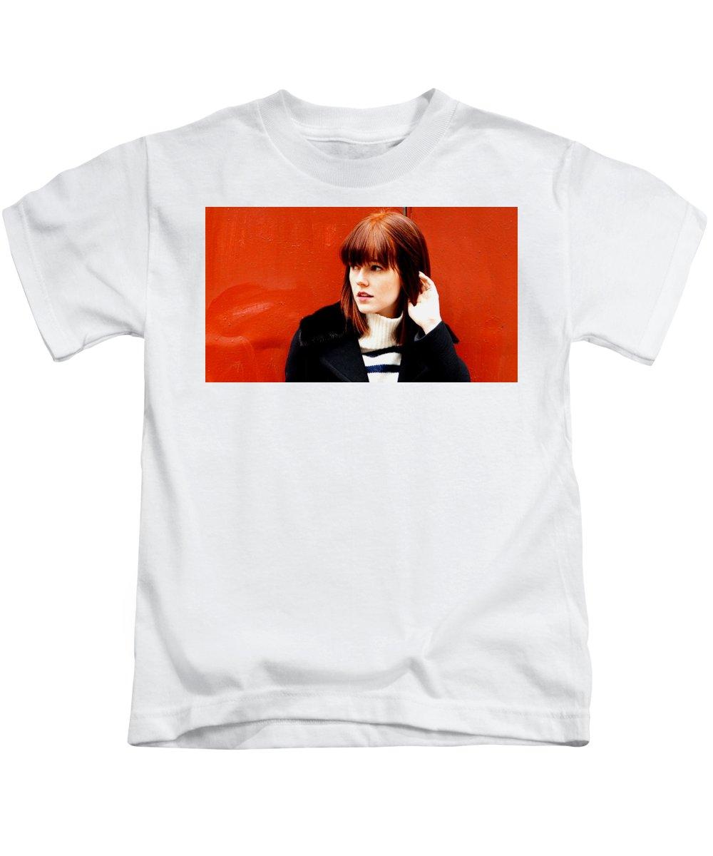 Quinn Cooper Kids T-Shirt featuring the digital art Quinn Cooper by Dorothy Binder
