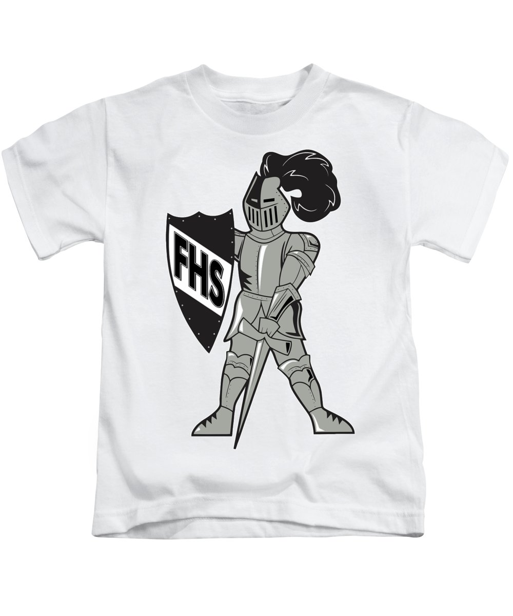 Kids T-Shirt featuring the digital art Raider by Chad Ulepich