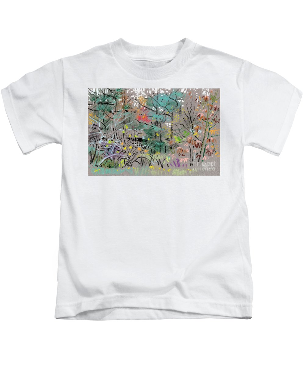 Plein Air Kids T-Shirt featuring the drawing Rainy Day In High Ridge by Donald Maier