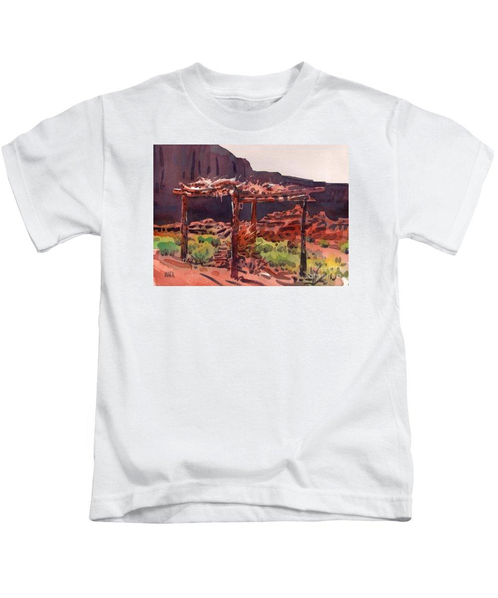 Ramada Kids T-Shirt featuring the painting Ramada by Donald Maier