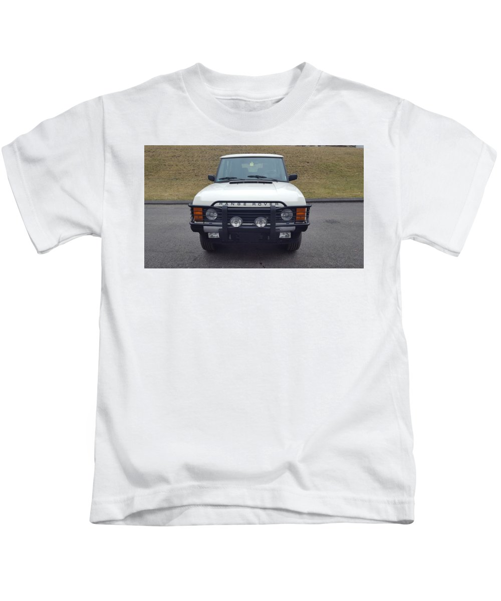 Range Rover Classic Kids T-Shirt featuring the digital art Range Rover Classic by Dorothy Binder