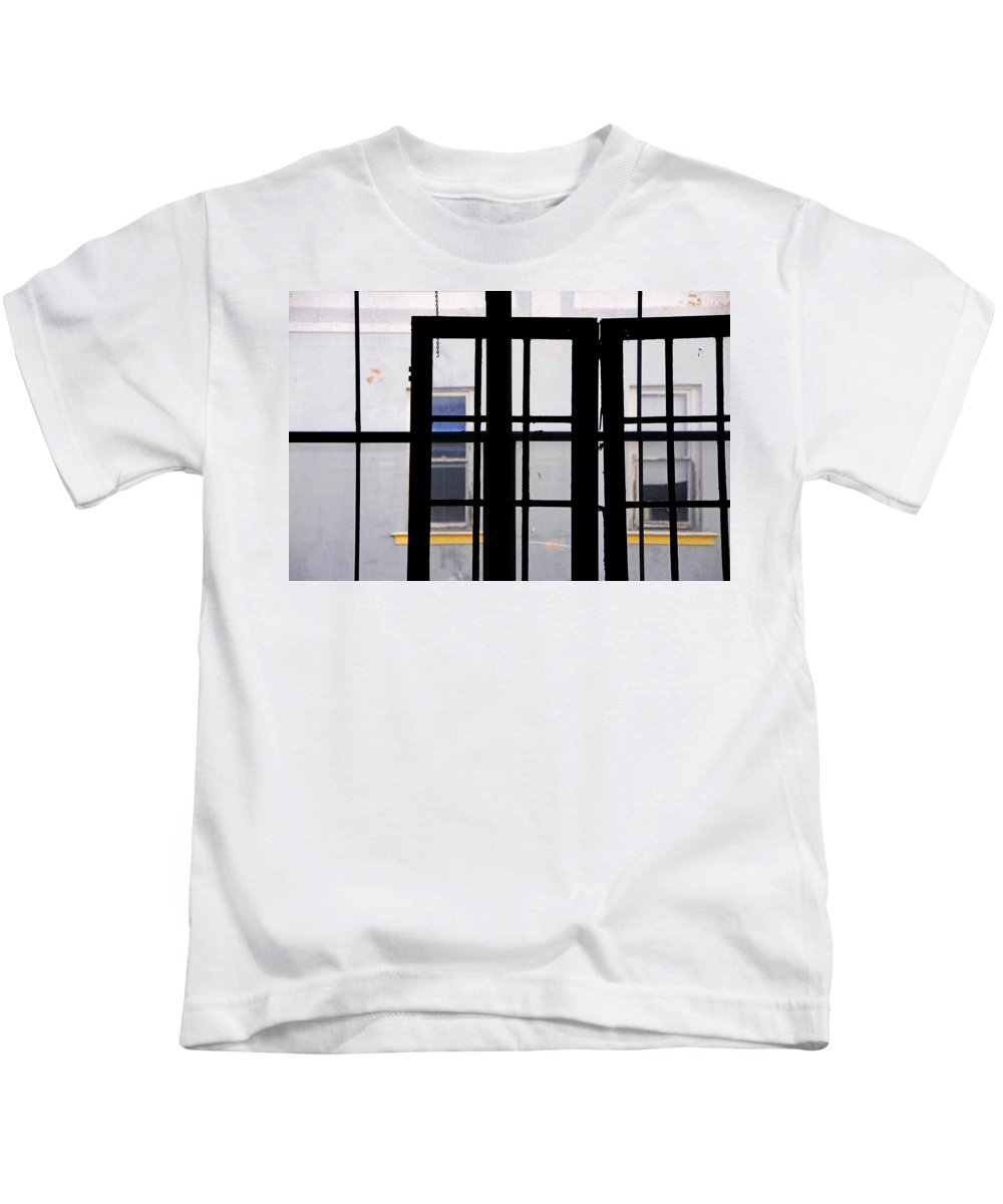 Skip Hunt Kids T-Shirt featuring the photograph Rear Window 1 by Skip Hunt