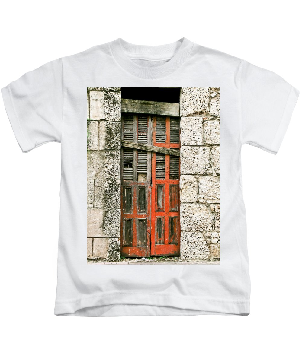 Door Kids T-Shirt featuring the photograph Red Door by Douglas Barnett