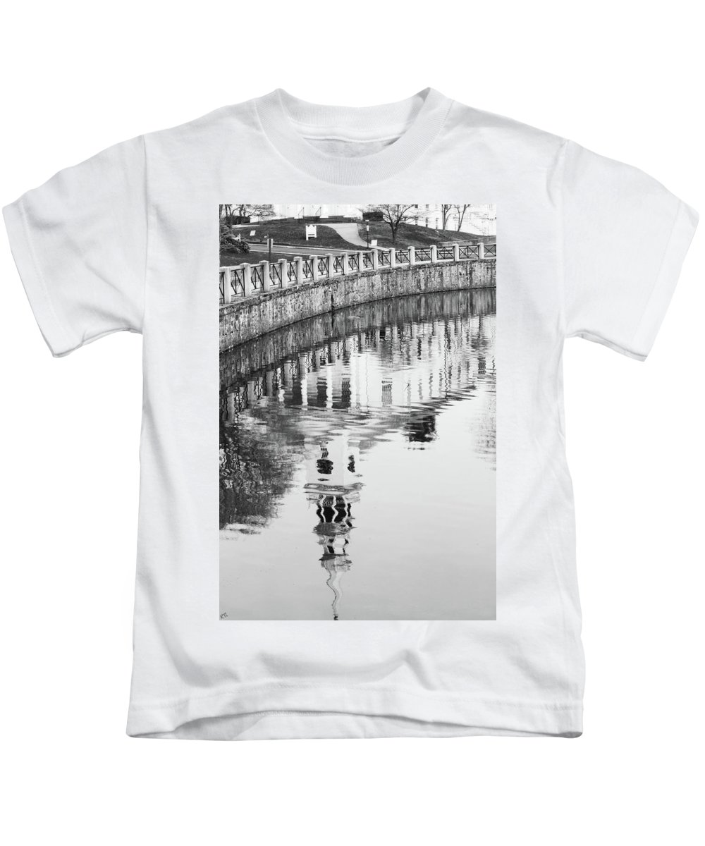 Reflections Kids T-Shirt featuring the photograph Reflections Of Church 2 by Karol Livote