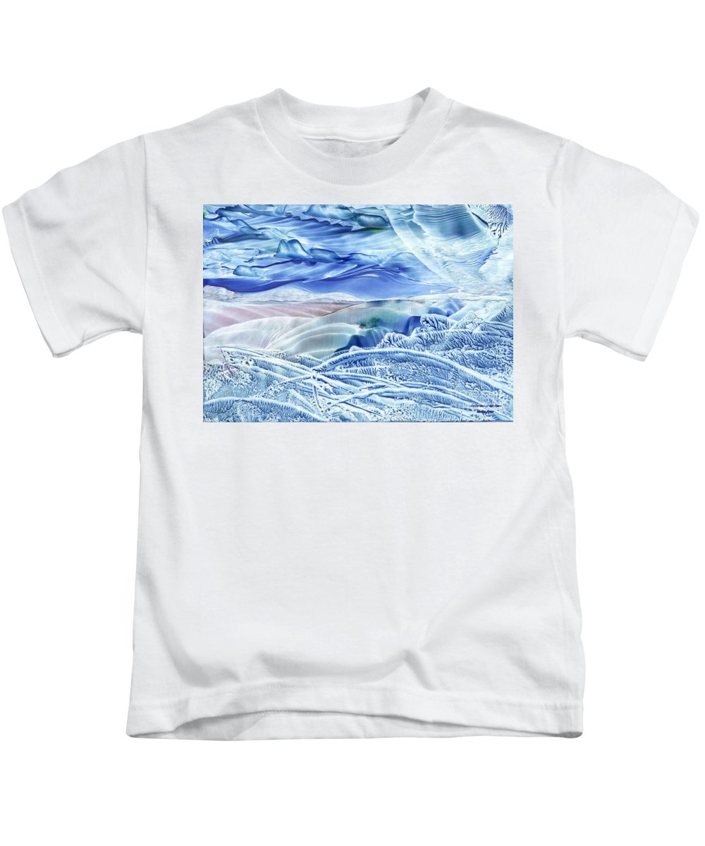 Wax Kids T-Shirt featuring the painting Reflections Of The Moon by Shelley Jones