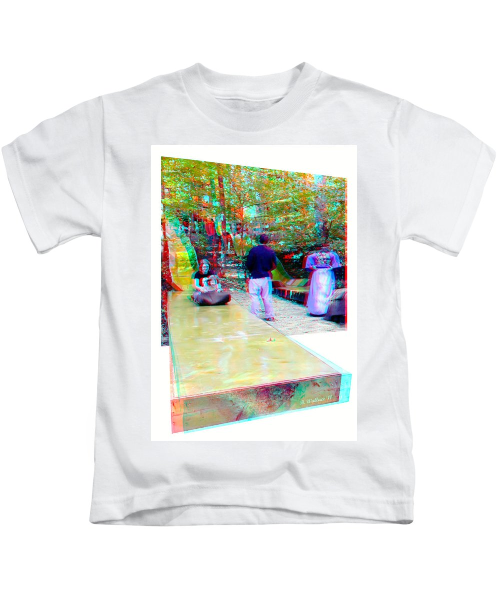 3d Kids T-Shirt featuring the photograph Renaissance Slide - Use Red-cyan 3d Glasses by Brian Wallace