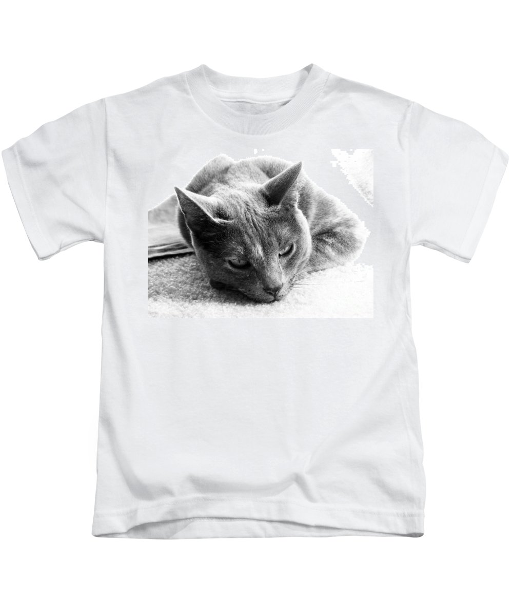 Cats Kids T-Shirt featuring the photograph Resting by Amanda Barcon