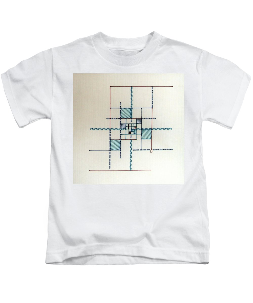 Line Driven Kids T-Shirt featuring the drawing Rfb0557 by Robert F Battles