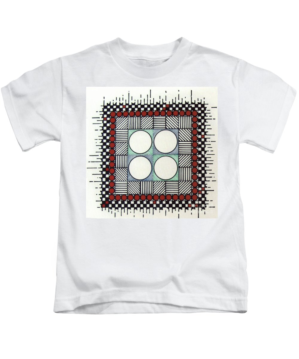 Abstract Kids T-Shirt featuring the drawing Rfb0562 by Robert F Battles