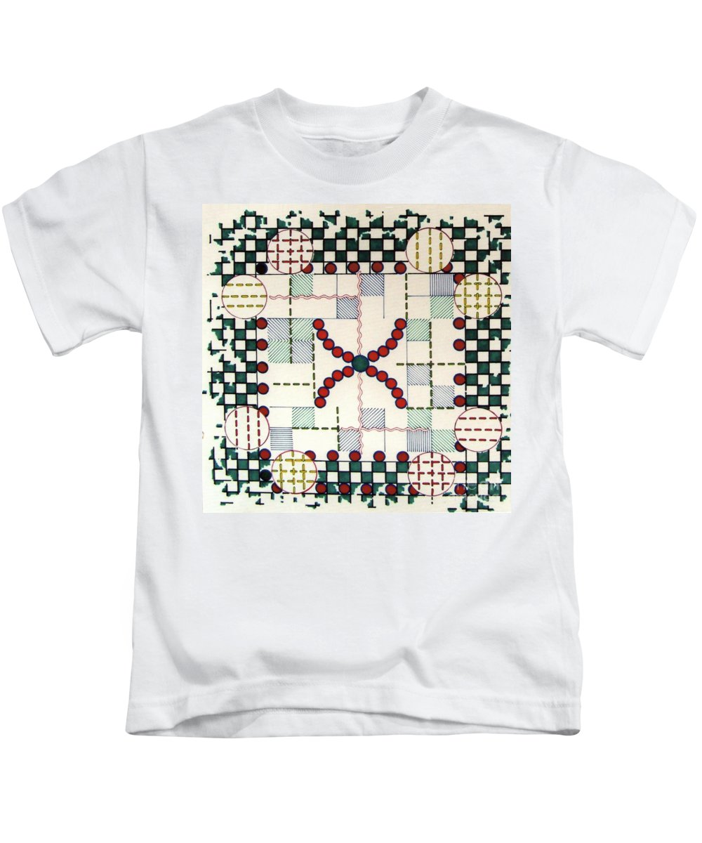 Festive Christmas Kids T-Shirt featuring the drawing Rfb0563 by Robert F Battles