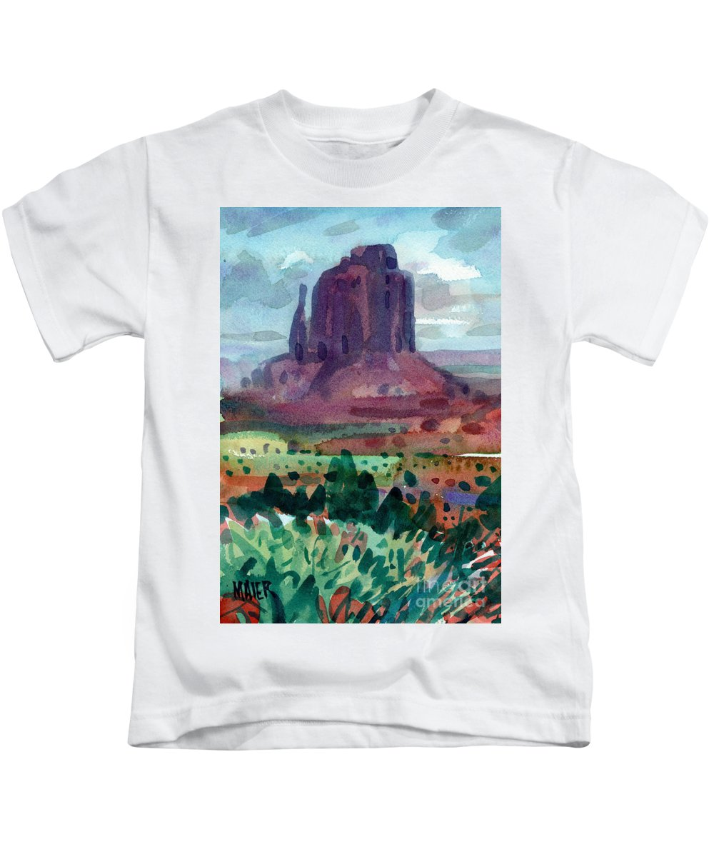 Right Mitten Kids T-Shirt featuring the painting Right Mitten by Donald Maier