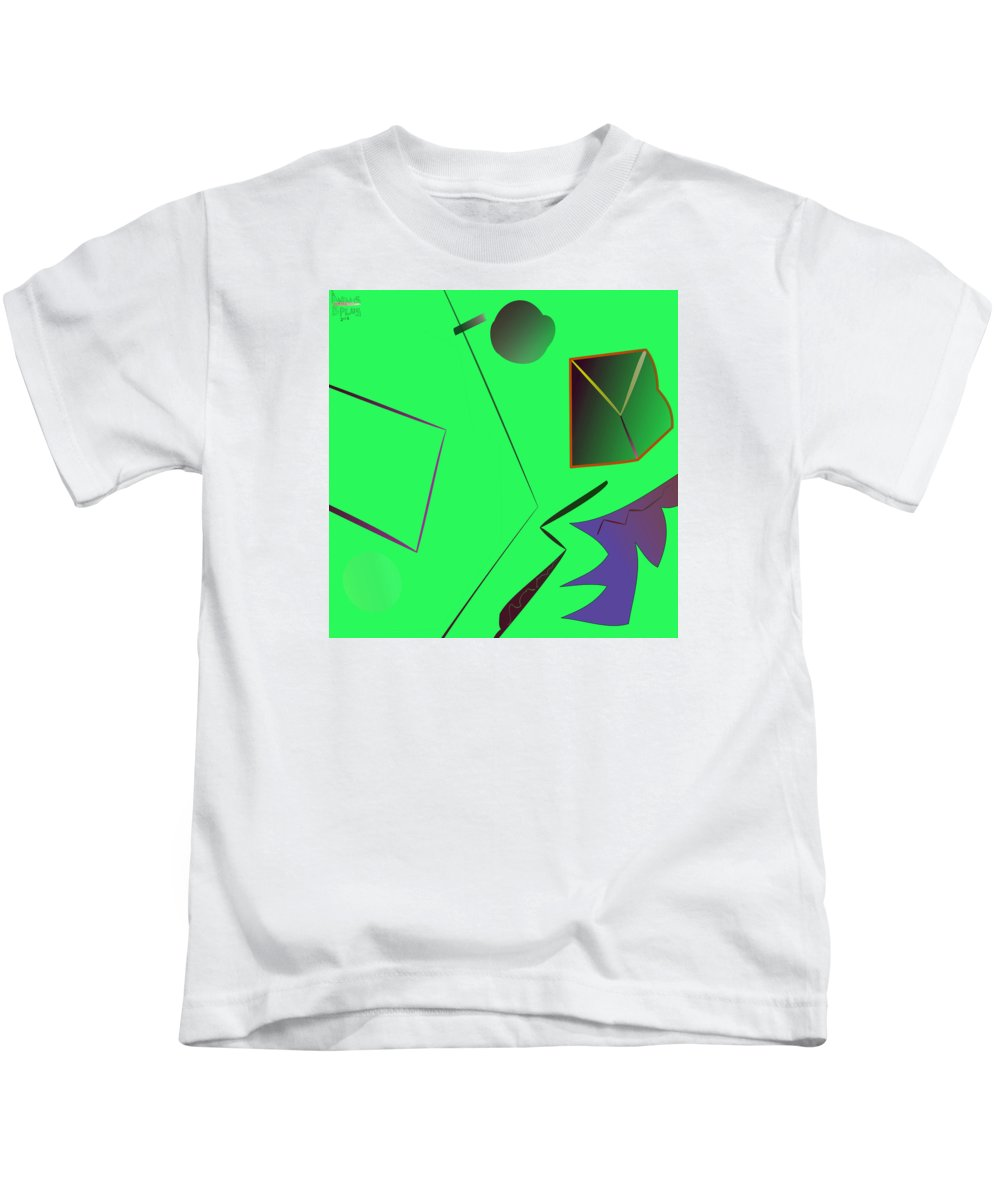 Annunciation Kids T-Shirt featuring the digital art Rink by Aminus Bplus