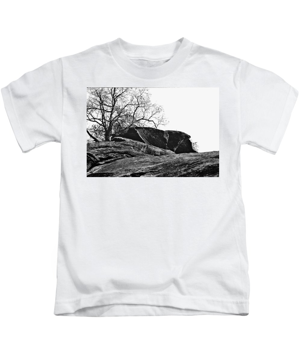Landscape Kids T-Shirt featuring the photograph Rock Wave by Steve Karol