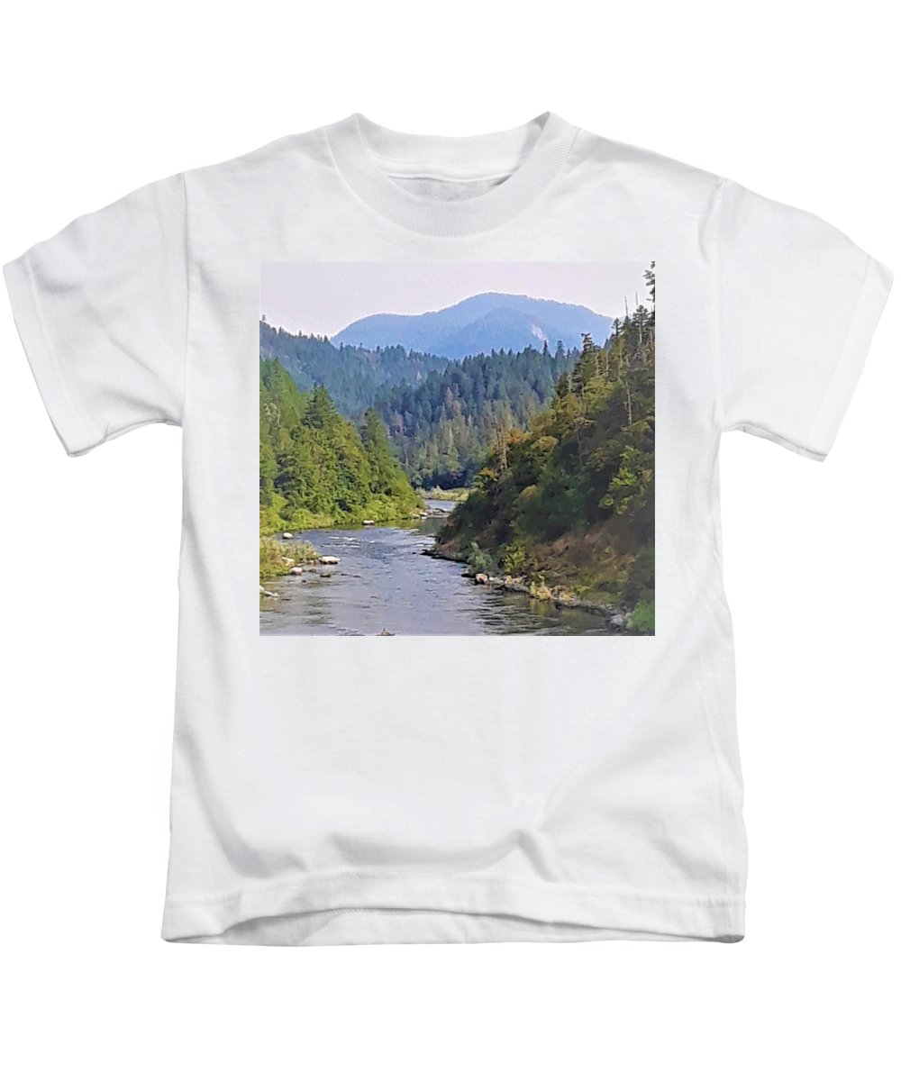 Rogue River Kids T-Shirt featuring the photograph Rogue River by Lisa Dunn