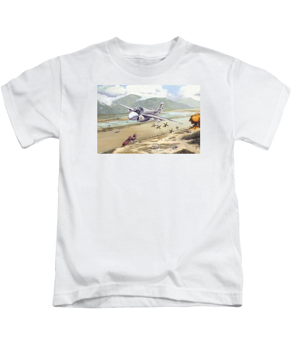 A-6 Kids T-Shirt featuring the photograph Rolling Snakeyes by Marc Stewart
