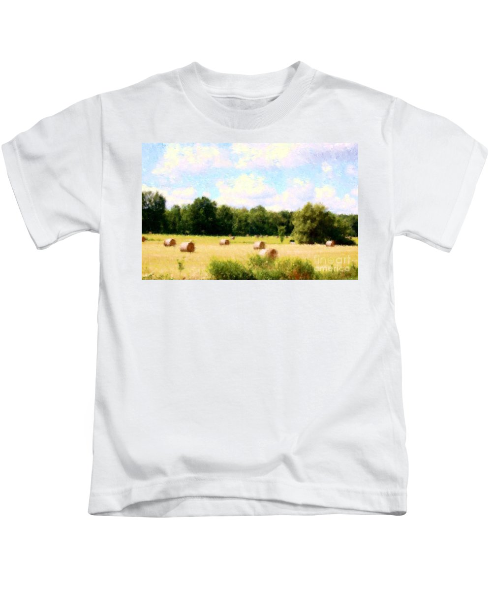 Nature Kids T-Shirt featuring the photograph Rolling The Hay by David Lane