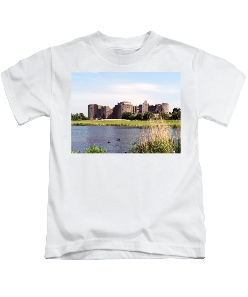 Roscommon Kids T-Shirt featuring the photograph Roscommon Castle Ireland by Teresa Mucha